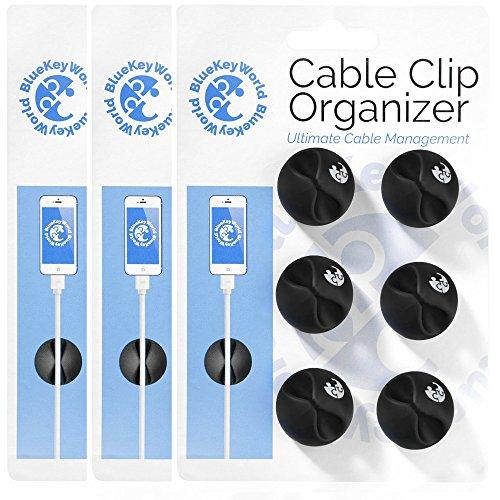 16-zoll-modell-kit (Kabel-Clips–Kabel-Organizer–Schnur Management–Draht Management System–6Pack–selbstklebend–langlebig–Modell cc908von Blau World (3Pack))