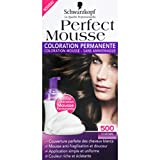 Schwarzkopf - Perfect Mousse - Châtain 500, coloration permanente - La boîte de 92,5ml - (for multi-item order extra postage cost will be reimbursed)