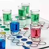 Relaxdays Trinkspiel Drinking Ludo Würfelspiel für 2 – 4 Spieler B x T: 30 x 30 cm mit 16 Schnapsgläsern & 2 Würfeln witziges Partyspiel für Feier-Spaß Gesellschaftsspiel als Würfel-Trinkspiel - 5