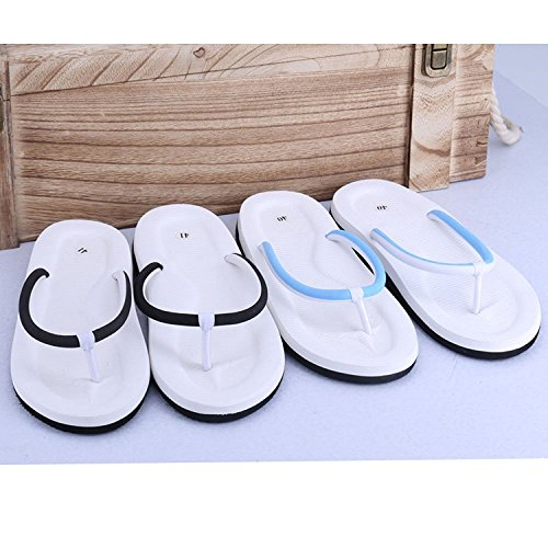 Linyuan Casual Style Men's Flip Flops Summer Beach Sandals Sandalen Shoes Slippers Blue