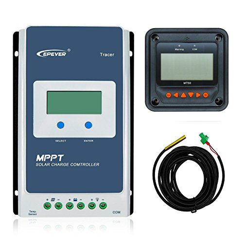 Anancooler EPEVER verbesserte 30A MPPT Solarladeregler Tracer A 3210AN + Fernmessgerät MT-50 Solarladung mit LCD-Display für Gel versiegelte überflutete Lithium-Solar-Batterie Lade-Negativ geerdet