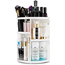 Porta Cosmetici Jerrybox Rotante di 360 Gradi, Scatola Organizza per Cosmetici e Gioielli Regolabile e Multi Funzione, Grande Capacità Portante, 7 Livelli, Ideale per Riporre il Tonico, le Creme, i Pennelli, i Rossetti e molto altro, Colori Bianco