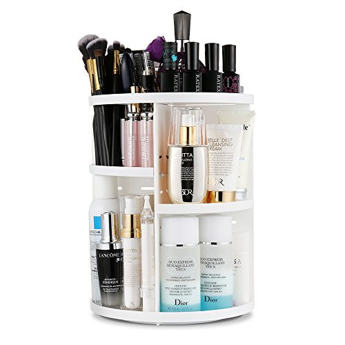 Jerrybox 360 Grad Drehbarer Make up Organizer Einstellbarer Kosmetikorganizer Multifunktionale...