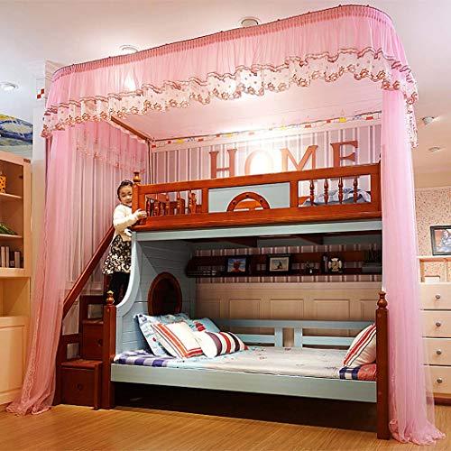 nbetten Netze Edelstahl U-Schiene Doppelbett Mutter Bett Moskitonetz 1.5m1.8 Meter Boden zu schlafen Konto,4,200 * 150 * 265cm ()