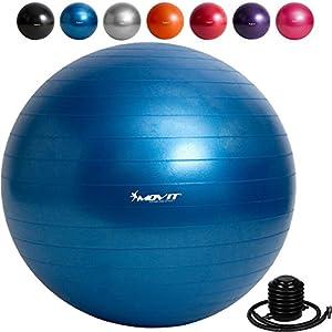 Movit Gymnastikball »Dynamic Ball« inkl. Fußpumpe, 85 cm, Blau,...