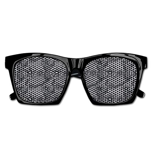 EELKKO Mesh Sunglasses Sports Polarized, Black Lace Style Pattern with Blossoms Victorian Gothic Flowers Bridal Print,Fun Props Party Favors Gift Unisex - Victorian Gothic Black Lace