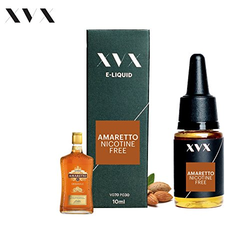 XVX E Liquid Amaretto Flavour Electronic Liquid For E Cigarette Electronic Shisha Liquid 10ml Bottle Needle Tip Precision Pouring Choose Your Lifestyle New For 2016 Digital Smoke Nicotine Free Tobacco Free