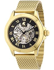 Carucci Watches Herren-Armbanduhr XL Analog Automatik Edelstahl CA2179ST-GD