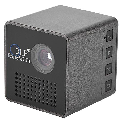 Proiettore Proiettore Mini DLP portatile, Proiettore video multimediale DLP Micro, 800: 1, Immagine da 7-40 pollici, Scheda TF di supporto altoparlante incorporato per giochi Home Theater e Outdoor