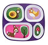 Sebra Kinderteller Wald lila, Menüteller, Teller mit 4 Fächern
