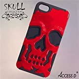 Coque IPHONE 4 4S tête de mort skull ROUGE protection