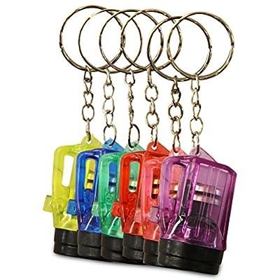 12 x Schlüsselanhänger Taschenlampe Lampe Vapor 4cm von HC-Handel® bei Outdoor Shop