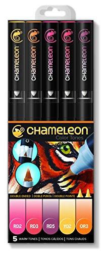 Chameleon Marker Set warme Töne mit 5 Stiften