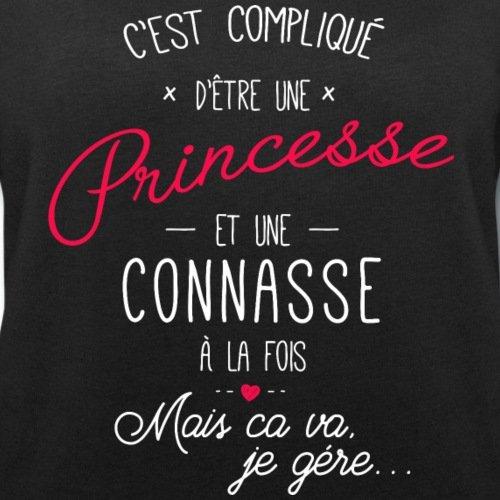 Spreadshirt Princesse Et Connasse À La Fois Sweat-shirt bio Stanley & Stella Femme Noir