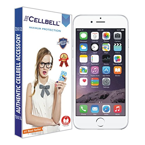 CELLBELL Tempered Glass Screen Protector For iPhone 6 6s with Installation Kit