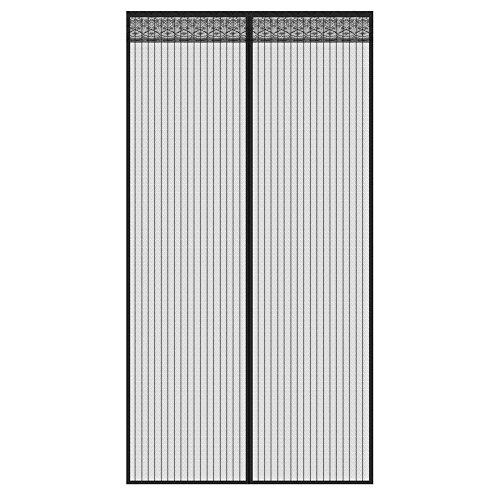 Fliegengitter Tür, Chenci Moskitonetz Fliegenvorhang 210*90 CM Insektenschutz verlängerte Magnet verschlüsselte Gaze Vorhang für die Balkontür, Kellertür, Terrassentür, Wohnzimmer (Terrassentür Vorhänge)