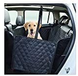 Nonslip Durable Dog Seat Covers Travel Waterproof Back Seat Cover With Car Safety Seat Belt ,Dog Car Seat Cover With Extra Side Flaps Scratch-proof Abrasion Resistance And Hammock Convertible Universal