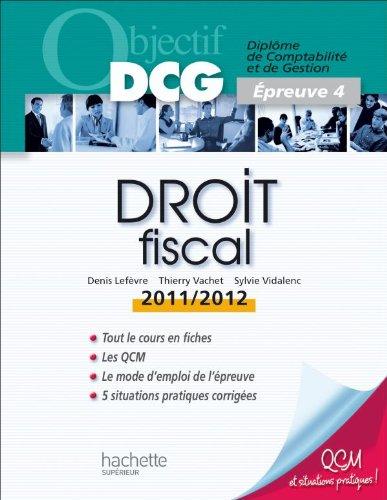 Objectif DCG Droit fiscal 2011/2012