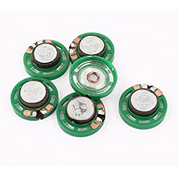 sourcing map 6pcs 22mm Dmr 8R 2W Metallschale Interner Mini Magnetischer Lautsprecher de