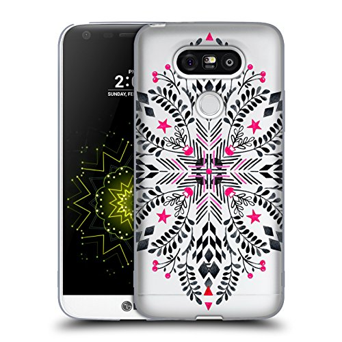 Offizielle Micklyn Le Feuvre Winter Grafik Mandala 4 Soft Gel Hülle für LG G5 / H850 / H840 / Dual (Dual-grafik-t-shirt)