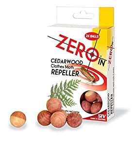 48 x Stv Zeroin Moth Repeller Cedar Balls