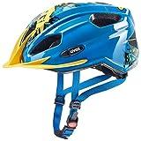 uvex Unisex Jugend Quatro junior Fahrradhelm, Blue Yellow, 50-55 cm