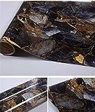 Jlcorp Marbre Contact Table Papier Autocollant Porte film adhésif Peel-stick papier peint brillant Pharmacies Shelf Liner Autocollant Sticker pour meuble, bleu