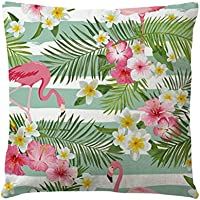 LUOEM Flamingo Throw Pillow Covers Square Fundas de cojines para exterior Sofá interior Coche Sala de estar Kids Room Dormitorio