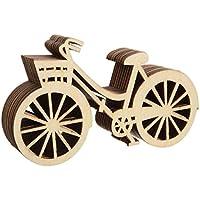 Bluelover 10pcs biciclette in legno fai da te Scrapbook ornamento taglio legno casa reception arredamento arredo - Scrapbook Forbici