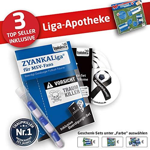 MSV Duisburg Kapuzen-Pullover ist jetzt die Liga-APOTHEKE für MSV Fans by Ligakakao.de Herren Hoody fußball Fan Fleece Sweatshirt blau-weiß Capelli Fleece