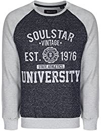 Soul Star Men's 'Maine'Vintage Sweat-shirt à col rond