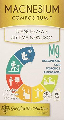 Dr. Giorgini Integratore Alimentare, Magnesium Compositum Pastiglie - 200 g