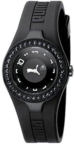 Puma Dynamic Posh Women's Quartz Watch with Black Dial Analogue Display and Black Plastic Bracelet PU101122005