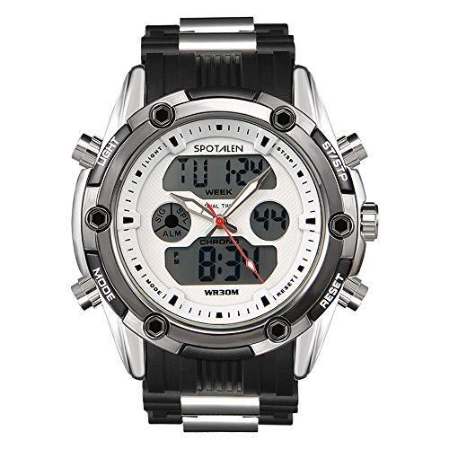 SPOTALEN Herren Sportuhr Analog-Digital wasserdichte Uhren für Herren Military Chronograph Stoppuhr Classic Silikonband