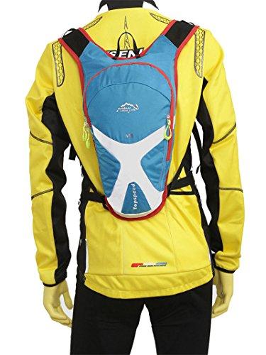West Biking 5L-Bike Mini Rucksack Outdoor Reisen Laufen Camping Fahrrad Rucksack Rucksack Sport Biking Radfahren Wandern Tasche Unisex Blu - blu