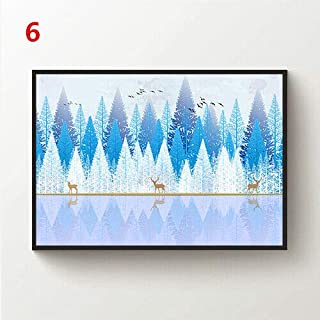 JackGo7 Painting Mountain Minimalism Drawing Canvas Wall Art Painting Poster Picture Print Home Decor Unframed (6,24X36inch/60x90cm)