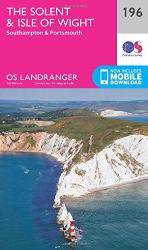 Landranger (196) The Solent & the Isle of Wight, Southampton & Portsmouth (OS Landranger Map)