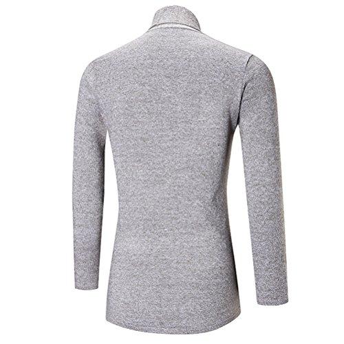 Zhuhaitf Herren Winterkleidung Men's Teenagers Long Shawl Collar Warm Soft Solid Open Edge Cardigan Jacket Coat Tops Light Gray