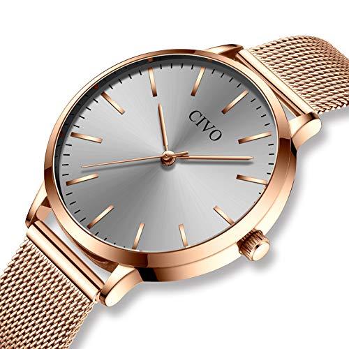 b5ea5a99263c Relojes para mujer de acero inoxidable impermeable relojes de pulsera  señoras chicas adolescentes fresco moda diseñador