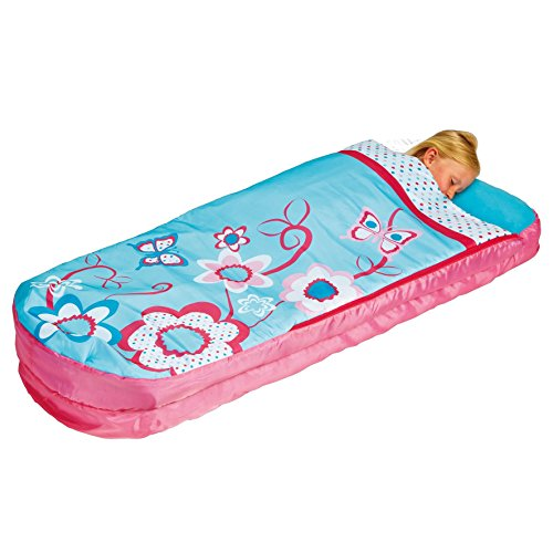 Flowers Girls Junior ReadyBed – Kids Airbed and Sleeping Bag in one