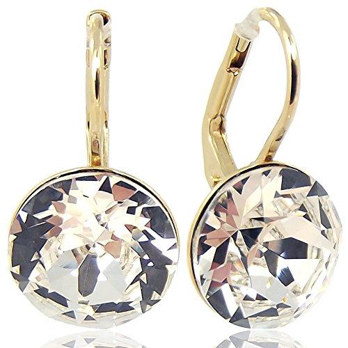 Ohrringe mit Kristallen von Swarovski® Gold NOBEL SCHMUCK