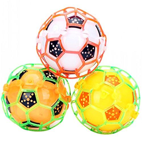 LED-Licht Jumping Bounce Ball Crazy Musik Beleuchtung Fußball Form Funny Bouncing Ball Nacht Spielen Spielzeug 1Stück zufällige Farbe