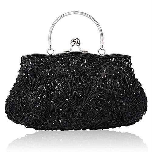 Perlen Bestickte Abendtasche (StageOnline 1920er Jahre Vintage-Stil Pailletten Handarbeit Perlen Bestickt Abendtasche Hochzeit Handtasche Clutch Handtasche)