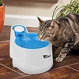Amzdeal Distributeur de L'eau Automatique pour Chien/Chat, Fontaine de Filtre d'Eau Recyclable pour Animaux Domestique - Bleu