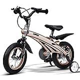 Kinderfahrräder Einräder 3-jähriges Baby-Fahrrad 4-8 Jahre Alter Kinderwagen 14-Zoll (Color : Champagne Gold, Size : 98 * 38 * 76cm)