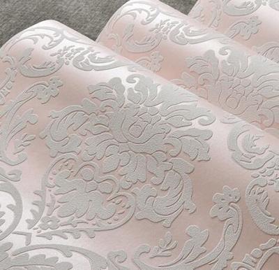 *Reyqing IIm Europäischen Stil Besprengung Gold Tapeten, 3D Dreidimensionale Schlafzimmer, Wohnzimmer Hintergrund Wand Tapeten, Rosa, Wallpaper Nur*