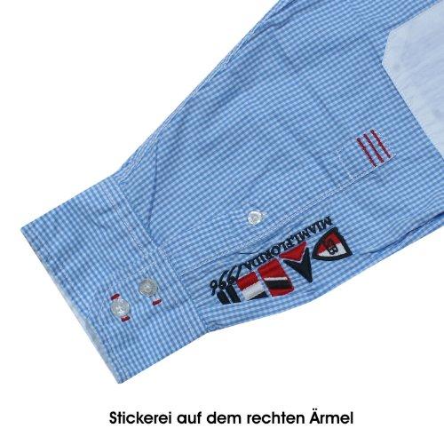 Kitaro, langarm Hemd, 131772-205, himmelblau weiss kariert [14548] Himmelblau