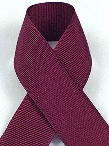 Maroon Grosgrain (Zipperstop Schiff Ribbons 705-3 5/8-Inch Grosgrain Rayon and Cotton Ribbon, 50-Yard, Maroon)