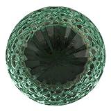#10: Indianshelf Handmade Set of 2 Glass Green Door Knobs Dresser Pulls Drawer Handle