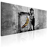 murando - Bilder Banksy AFFE mit Banane 225x90 cm Vlies Leinwandbild 5 TLG Kunstdruck modern Wandbilder XXL Wanddekoration Design Wand Bild - Street Art Urban Mural i-C-0116-b-m